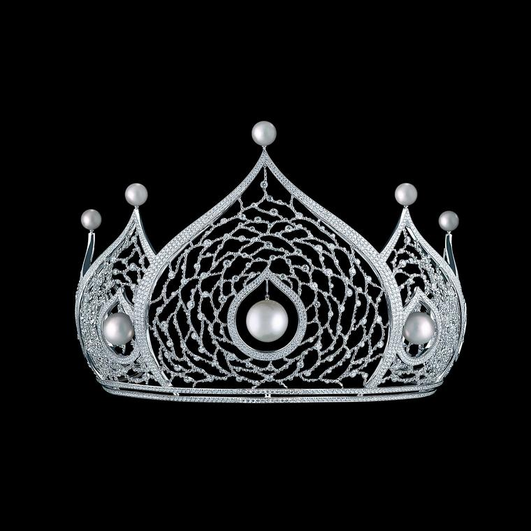 Maxim V diamond pearl tiara launching at Bentley & Skinner