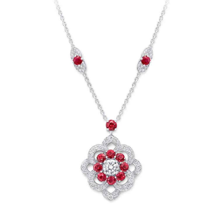 Graff Rosette ruby and diamond pendant