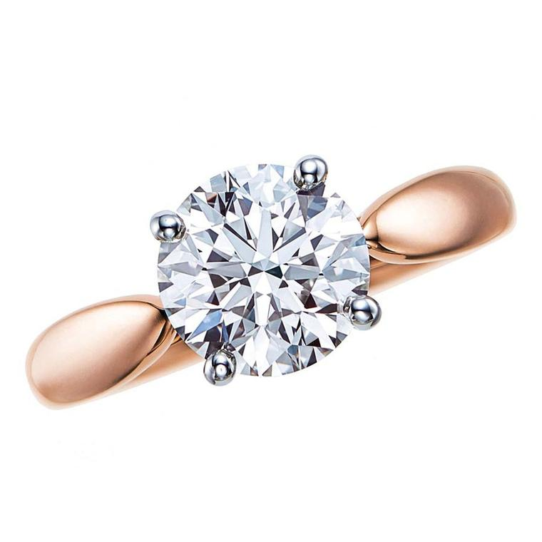 Tiffany Harmony rose gold engagement ring