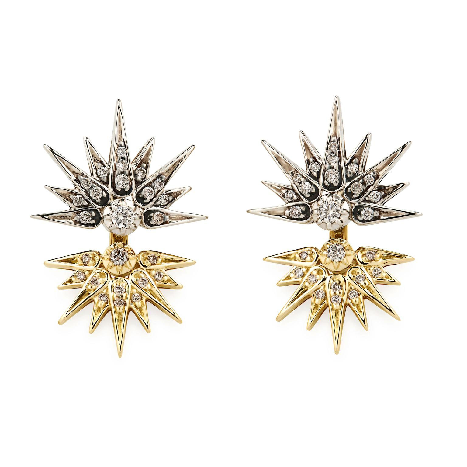 H.Stern Noble Gold and cognac diamond earrings