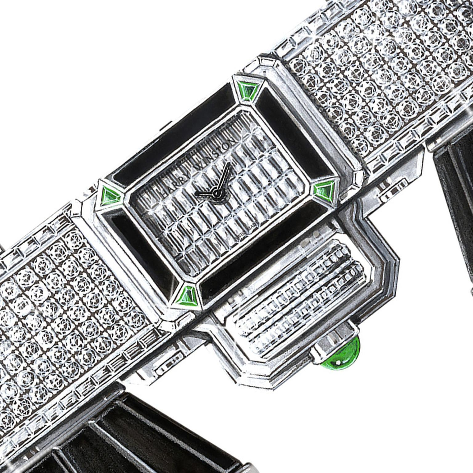 Harry Winston Broadway Glasses with secret watch