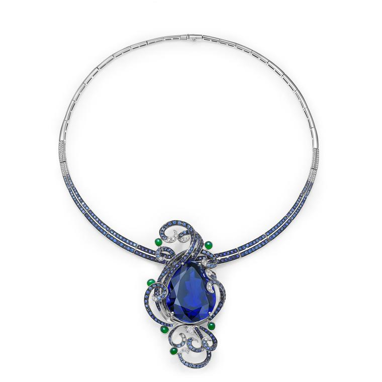 Fei Liu jewellery 103ct tanzanite necklace