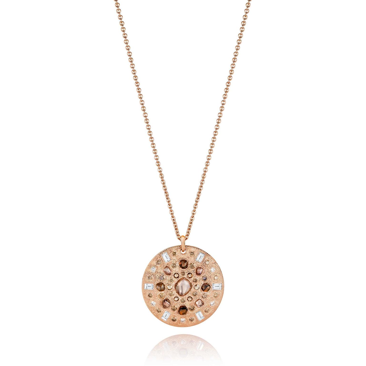 De Beers Talisman medallion in pink gold