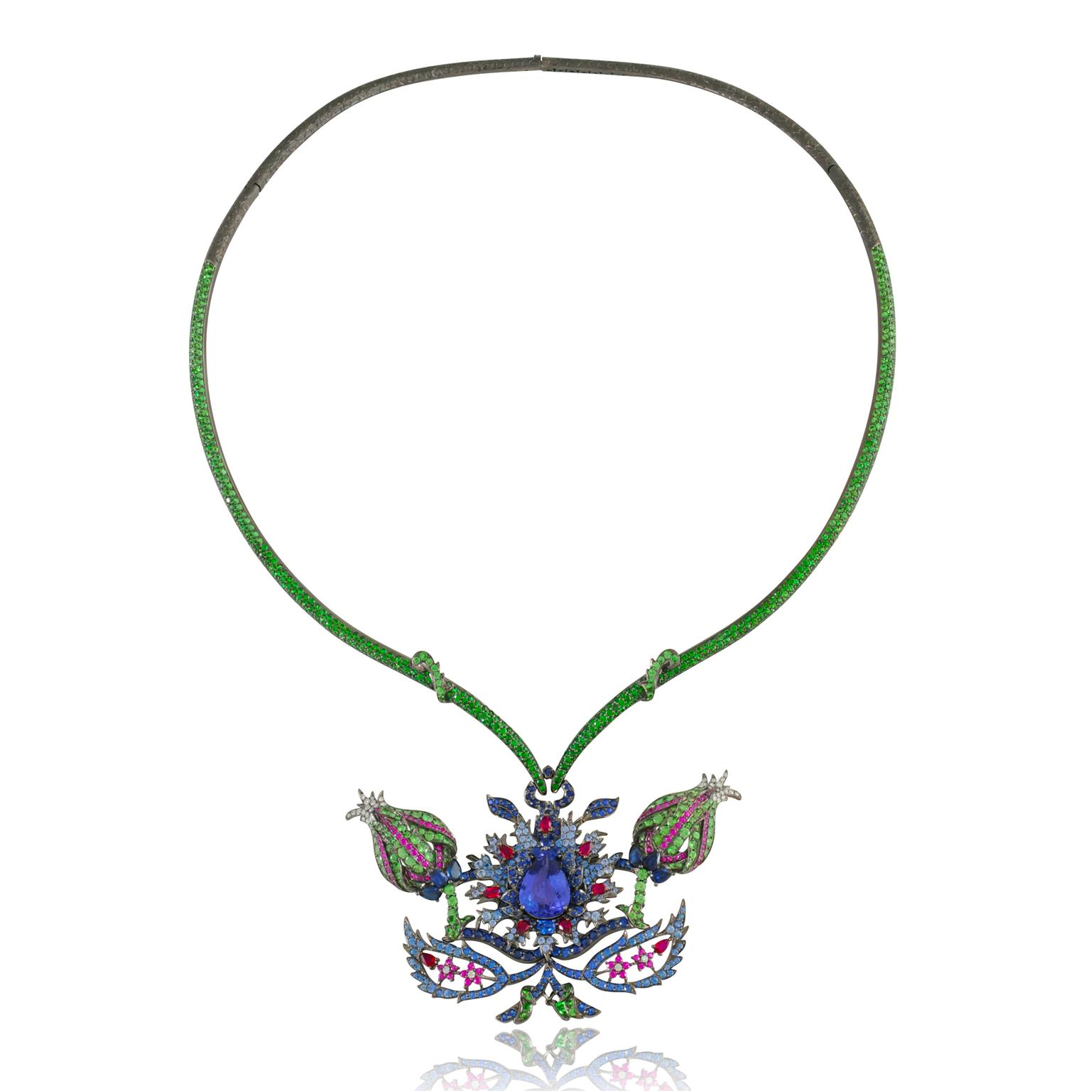 Lydia Courteille Topkapi tanzanite necklace