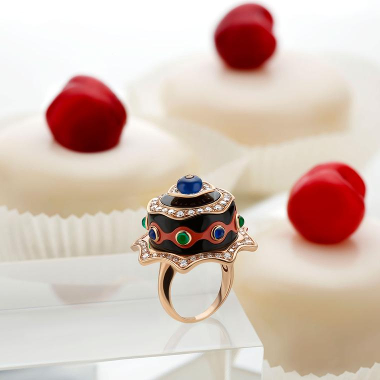 Festa Torta al Cioccolato high jewellery ring