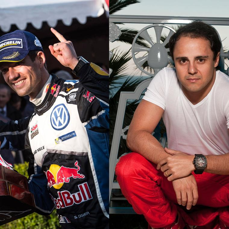 Sebastian Ogier and Felipe Massa wearing Richard Mille watchs