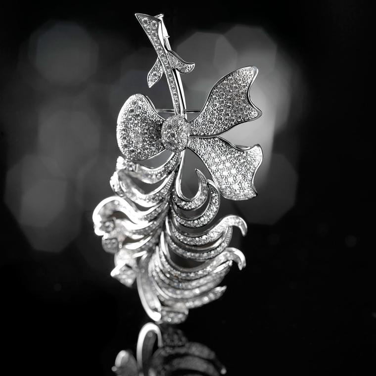 Chanel Plume diamond brooch