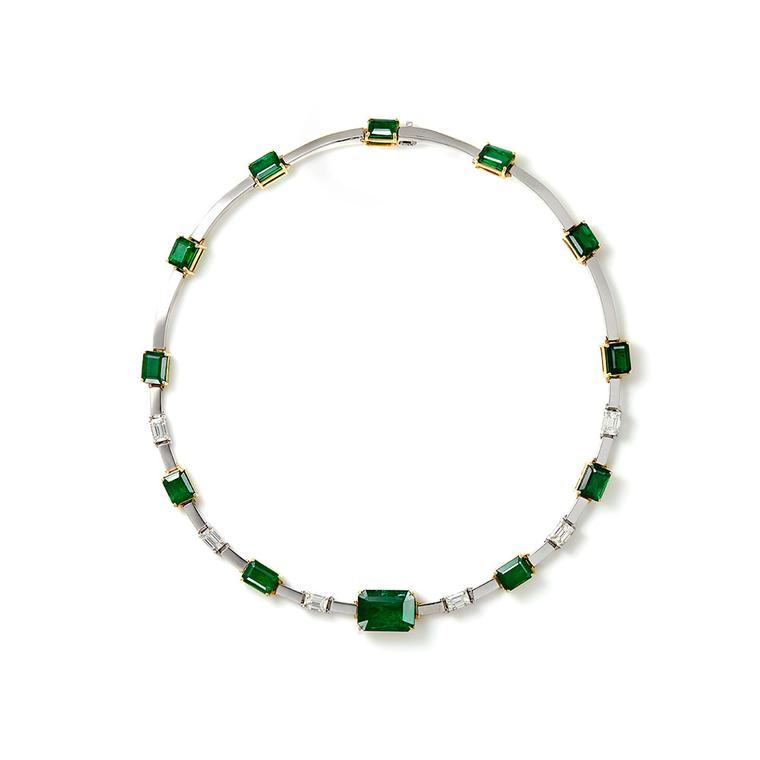 Ara Vartanian emerald and diamond choker