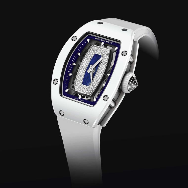 Richard Mill Polo Club Saint-Tropez RM 07-01 ladies' watch in white - front