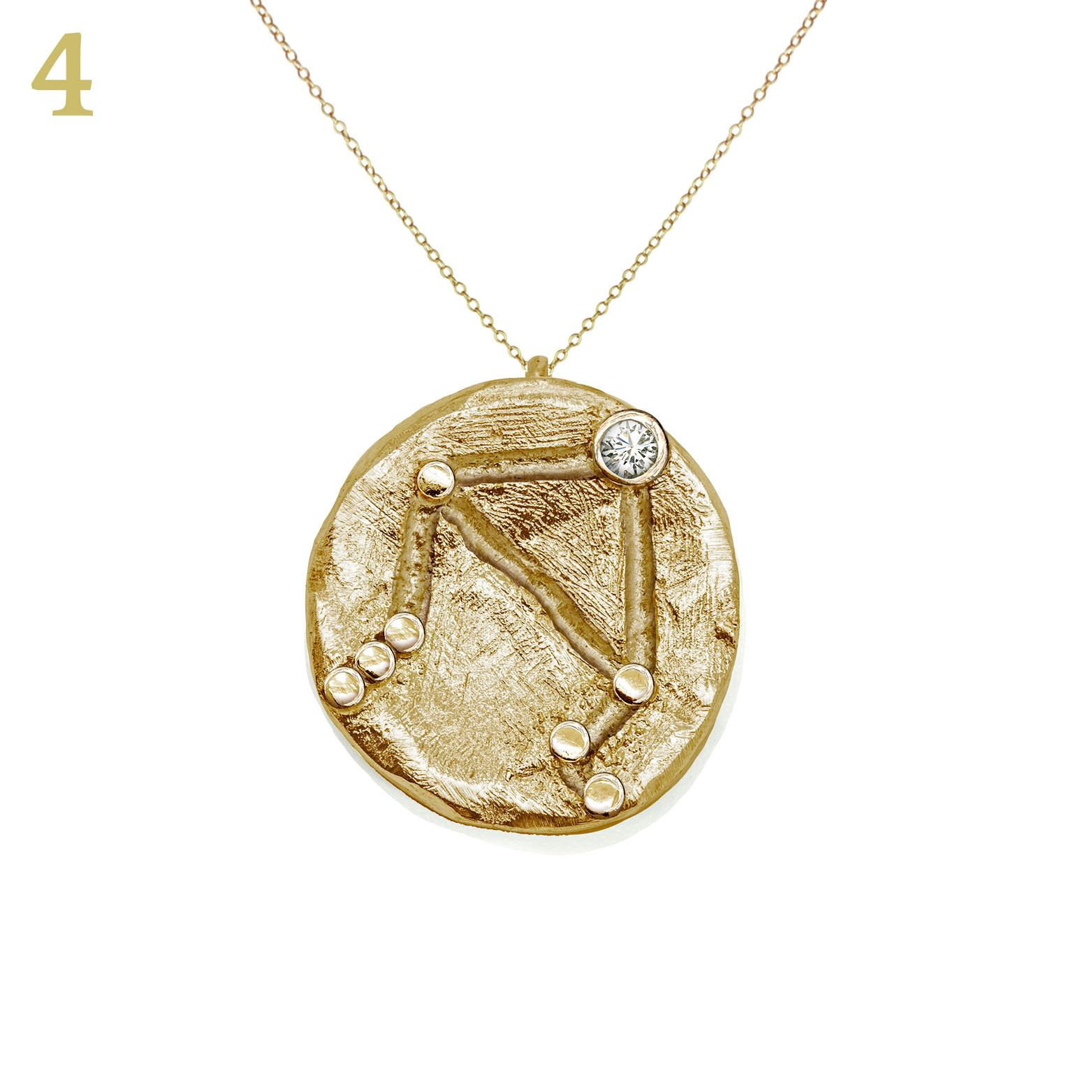 Anna Loucah Fairtrade gold and diamond amulet necklace