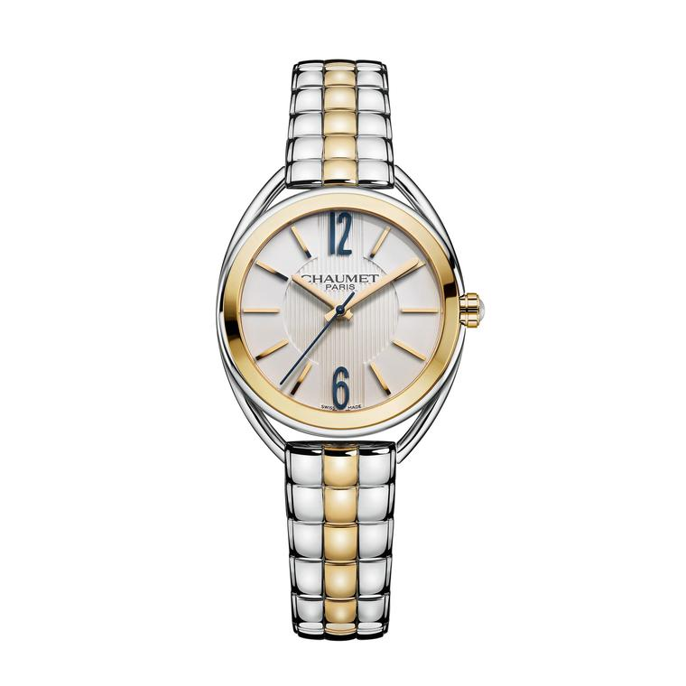Liens de Chaumet yellow gold stainless steel watch