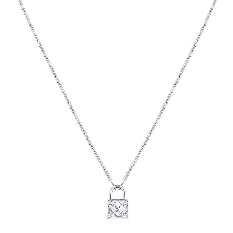 Louis Vuitton Lockit diamond pendant