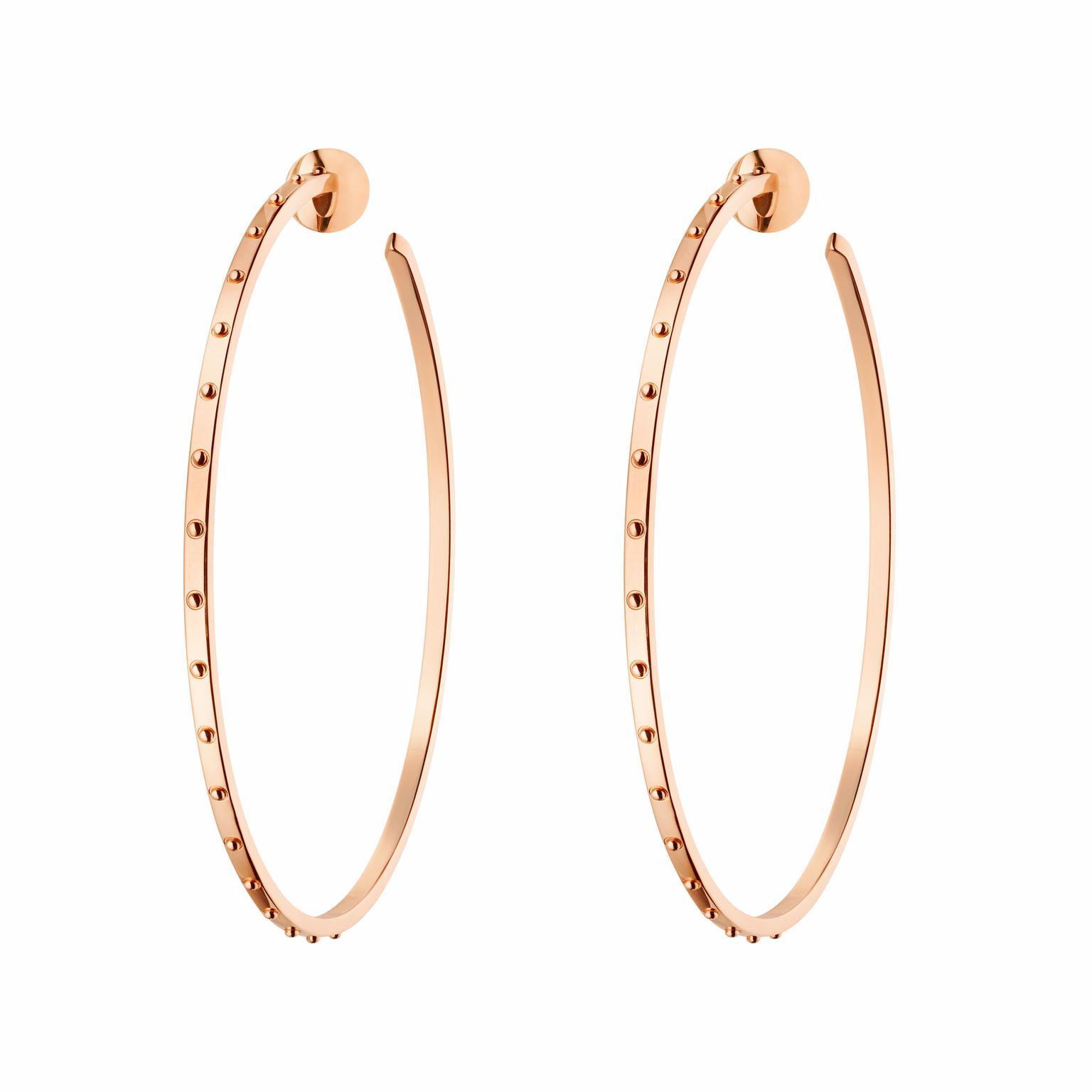 Louis Vuitton Emprise pink gold large hoop earrings