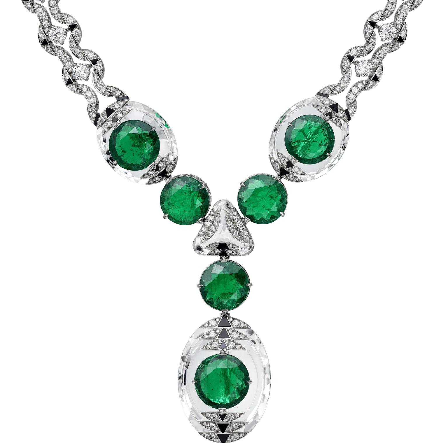 Cartier Magnitude Theia emerald necklace