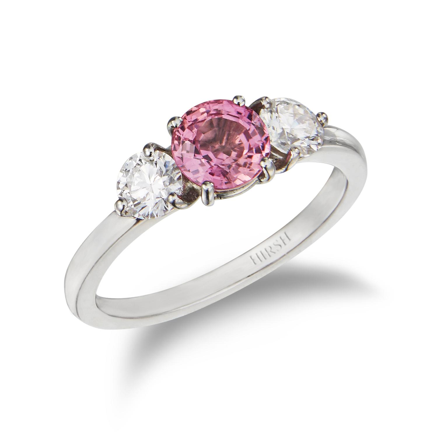 Hirsh London padparadscha ring