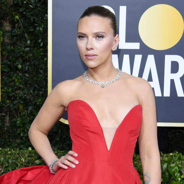 Scarlett Johansson Golden Globes Bulgari jewels