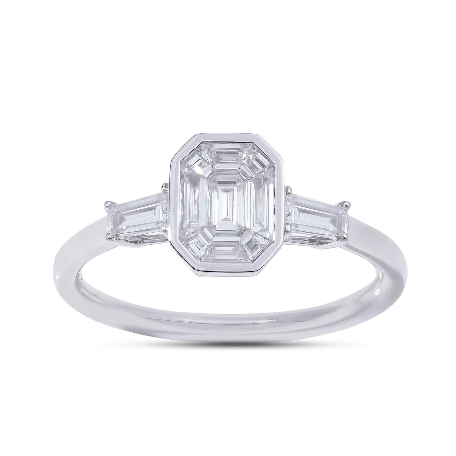 Stenzhorn solitaire 1carat look diamond ring