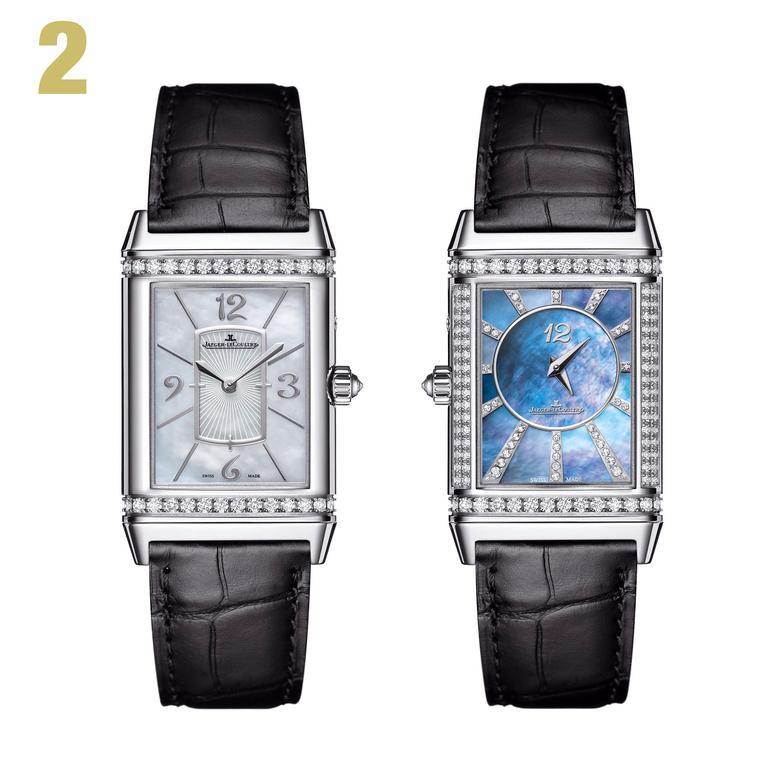 2 Jaeger-LeCoultre Reverso Lady Ultra Thin Duetto Duo white gold watch