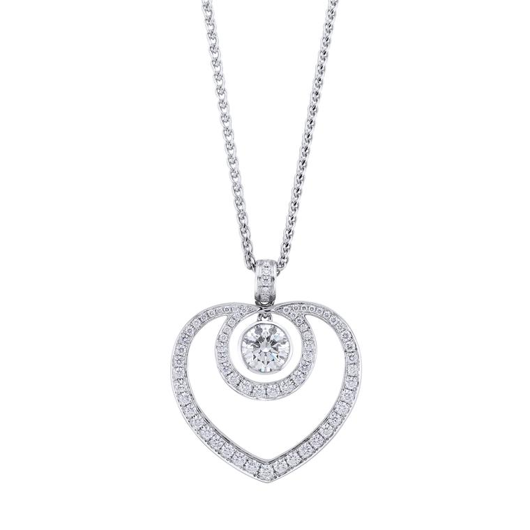 Boodles Sophie pendant necklace in platinum and diamond