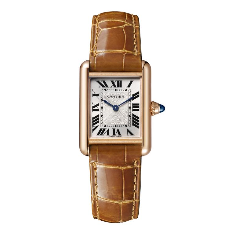 Cartier Tank Louis Cartier small pink gold watch