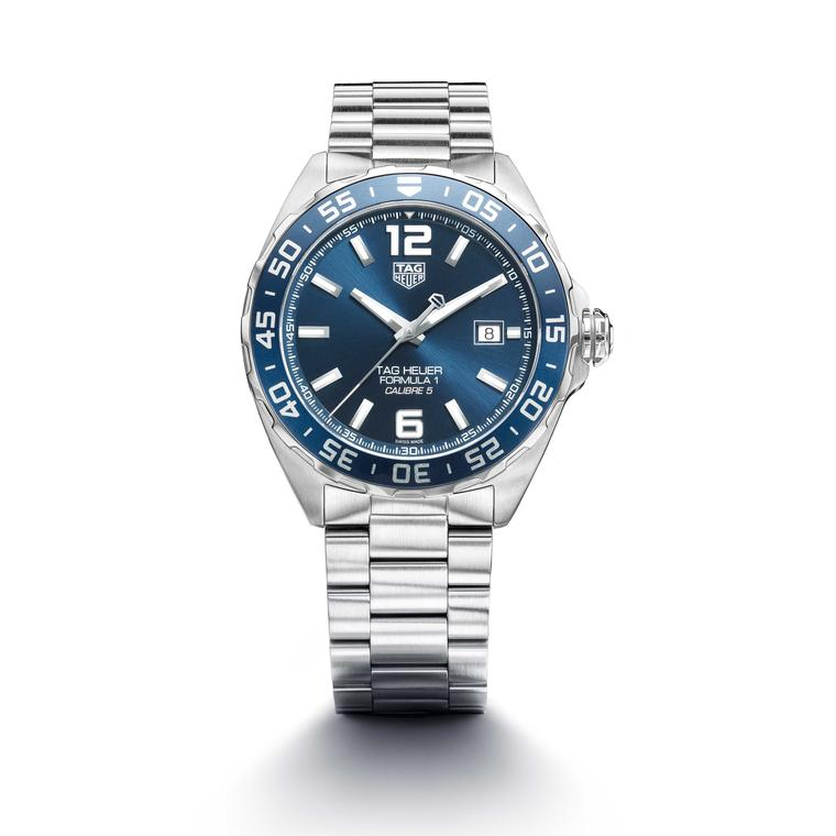 TAG Heuer Formula 1 Bucherer Blue Edition watch on stainless steel bracelet Price £1650