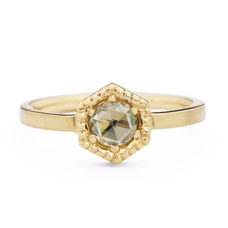 Jessica Poole bespoke Hexagon ring