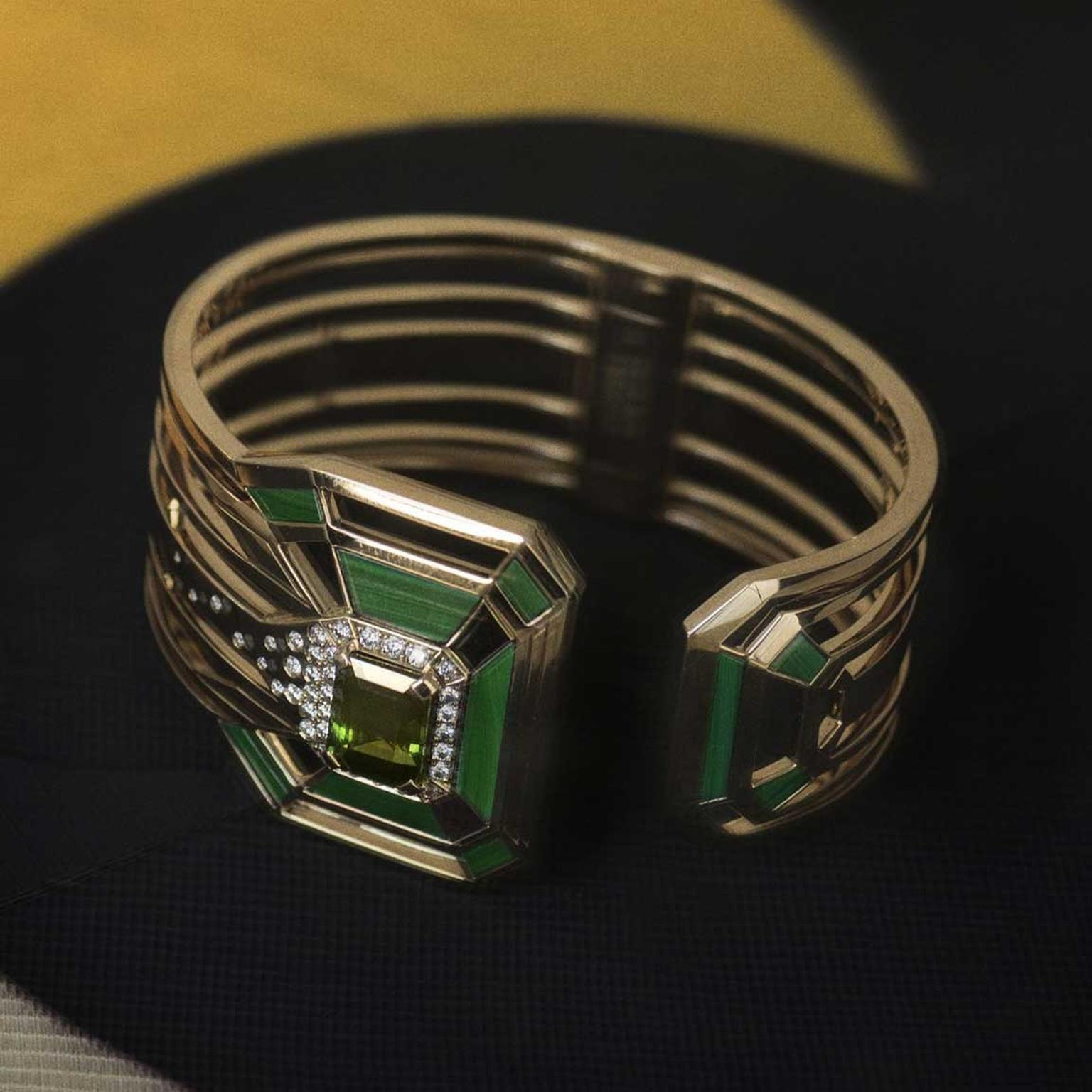 Chanel Gallery My Green tourmaline cuff