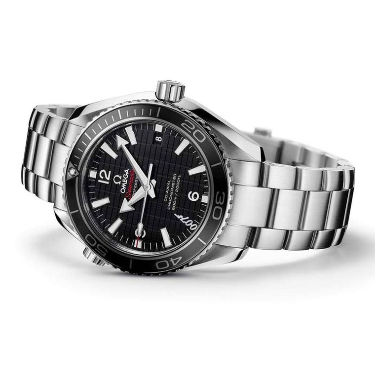 Omega's 42mm Planet Ocean 600m with Co-Axial movement, as seen in the 2012 James Bond film Skyfall starring Daniel Craig, is one of two Omega watches featured in the film.