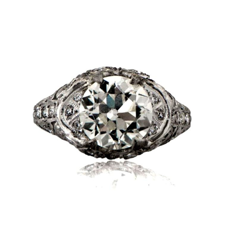 Estate Diamond Jewelry Art Deco engagement ring