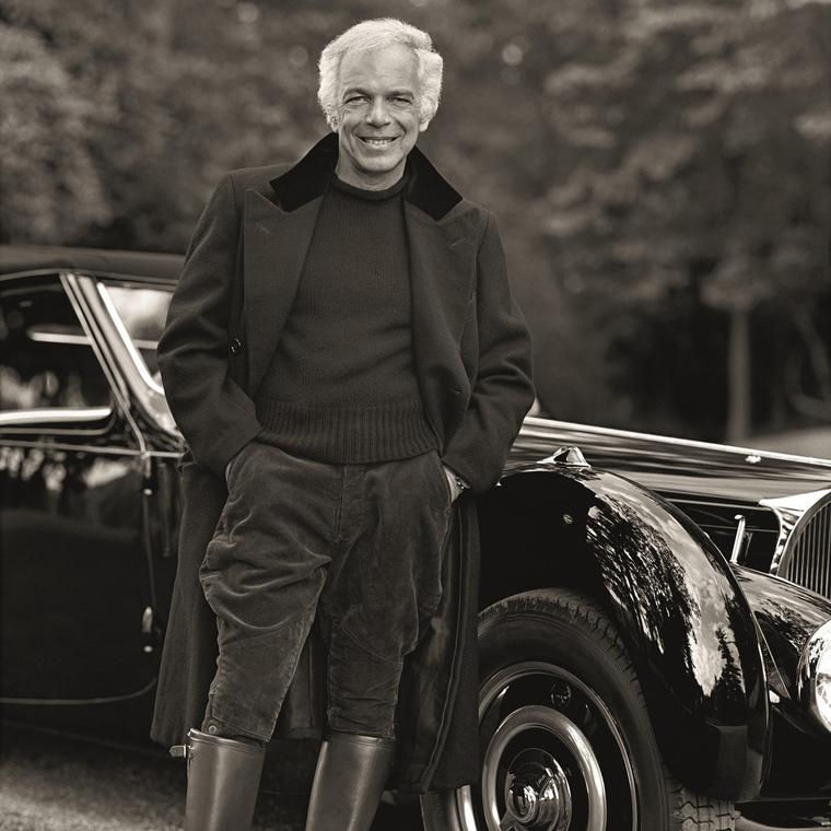 Ralph Lauren and his 1938 Bugatti 57SC Atlantic Coupe