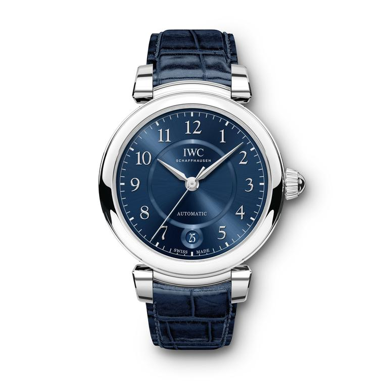 IWC Da Vinci Automatic 36mm steel watch for women with blue strap