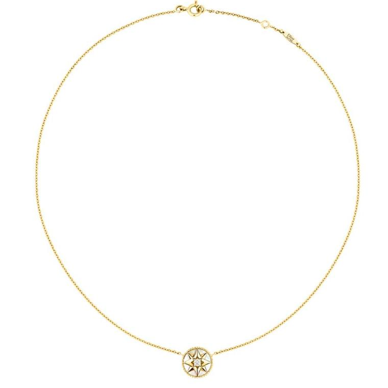 702f73c639 Dior Rose des Vents necklace in yellow gold, with