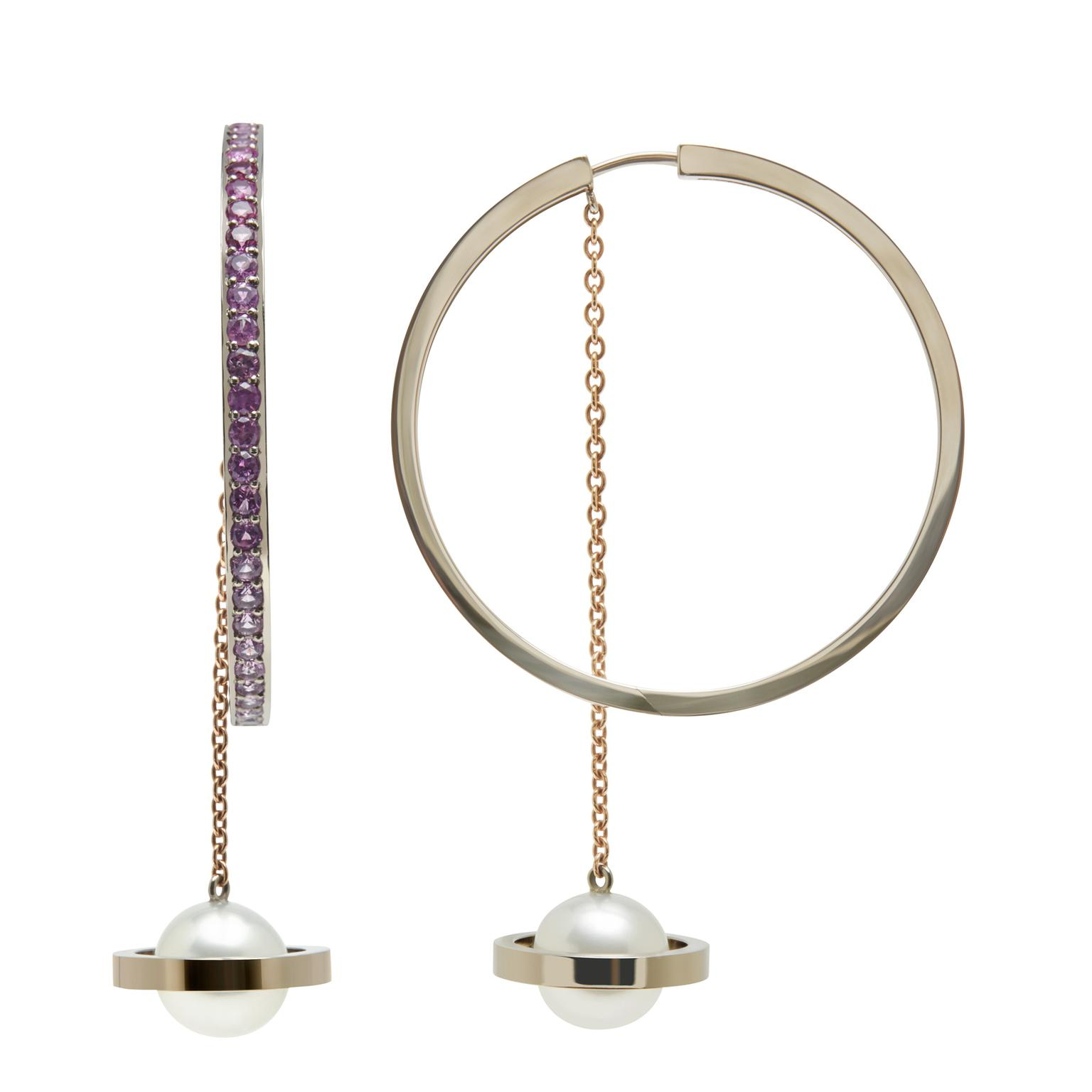 Alina Abegg Saturnation Hoop earrings