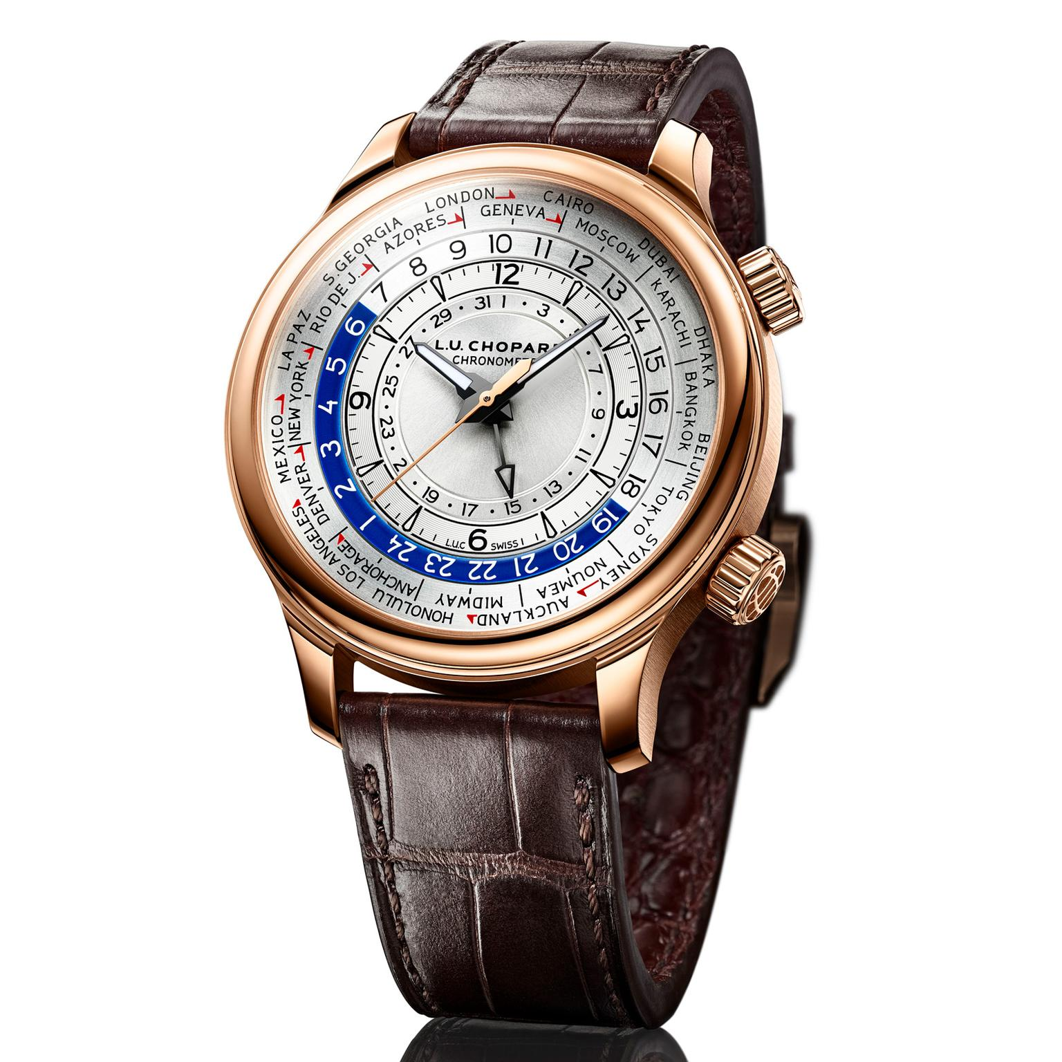 Chopard L.U.C Time Traveler One watch in rose gold