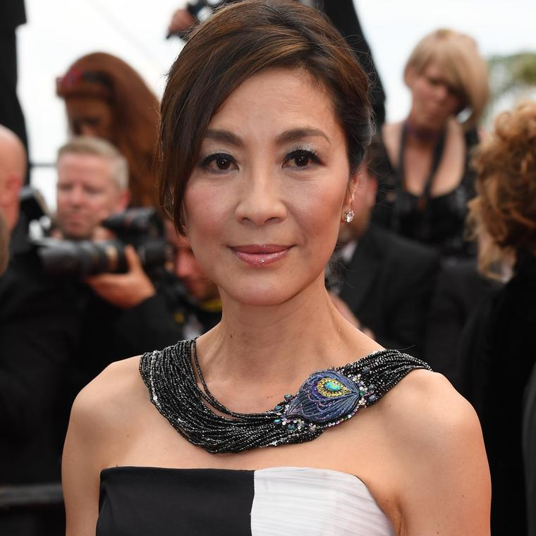 Michelle Yeoh Cannes 2017 in Chopard necklace