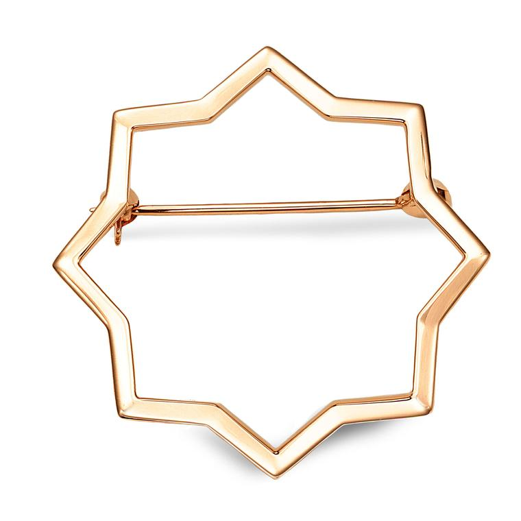 Octium Sun Collection rose gold Star brooch