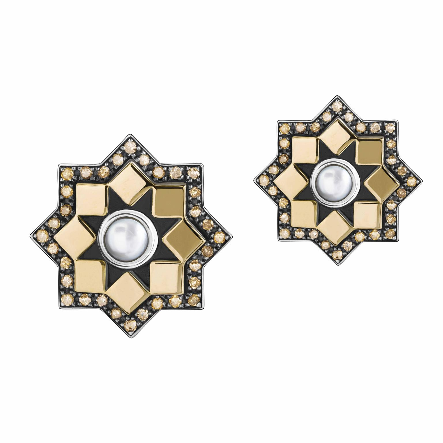 Mamluk earrings by Azza Fahmy