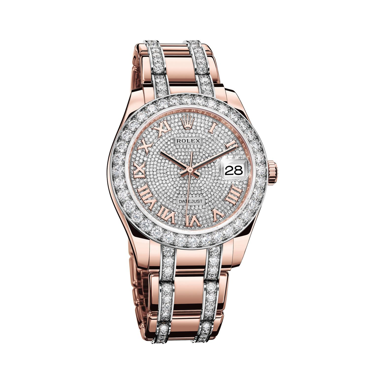 Rolex Pearlmaster 39mm watch in Everose gold with diamonds