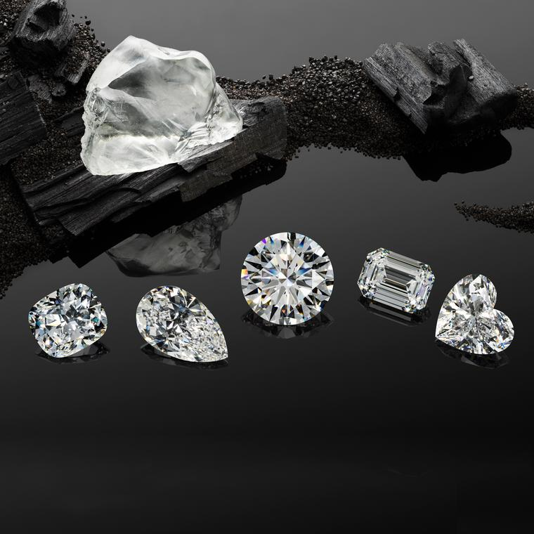 The Garden of Kalahari rough diamond cut into five stones