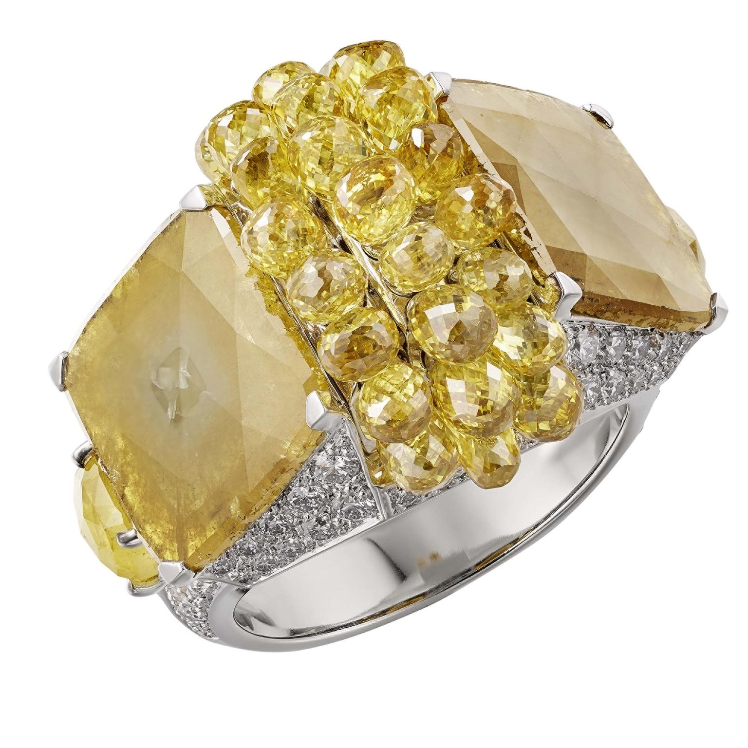 Cartier Magnitude Yuma ring with yellow diamonds