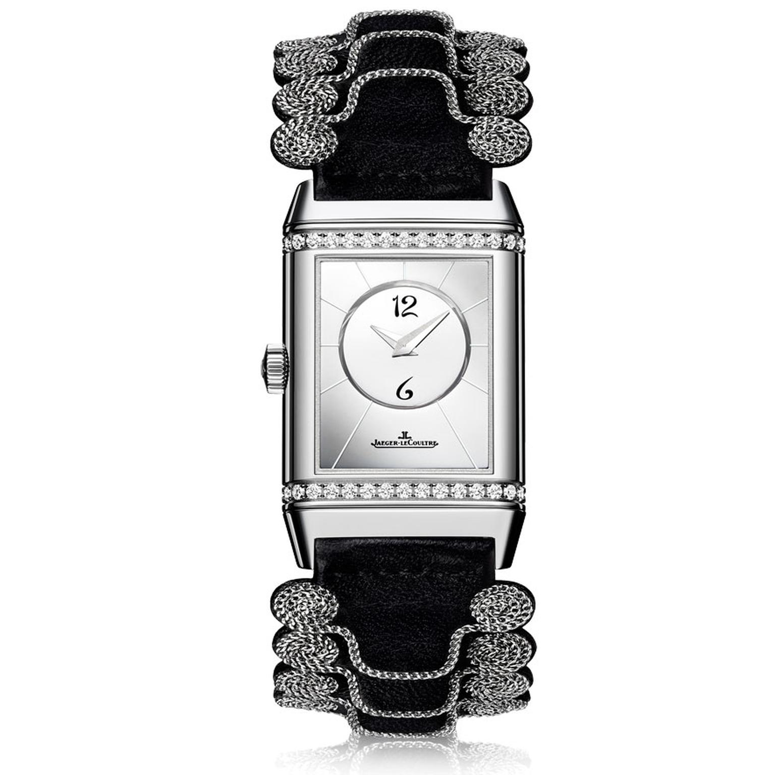 Jaeger-LeCoultre Reverso Duetto Louboutin Officer strap black