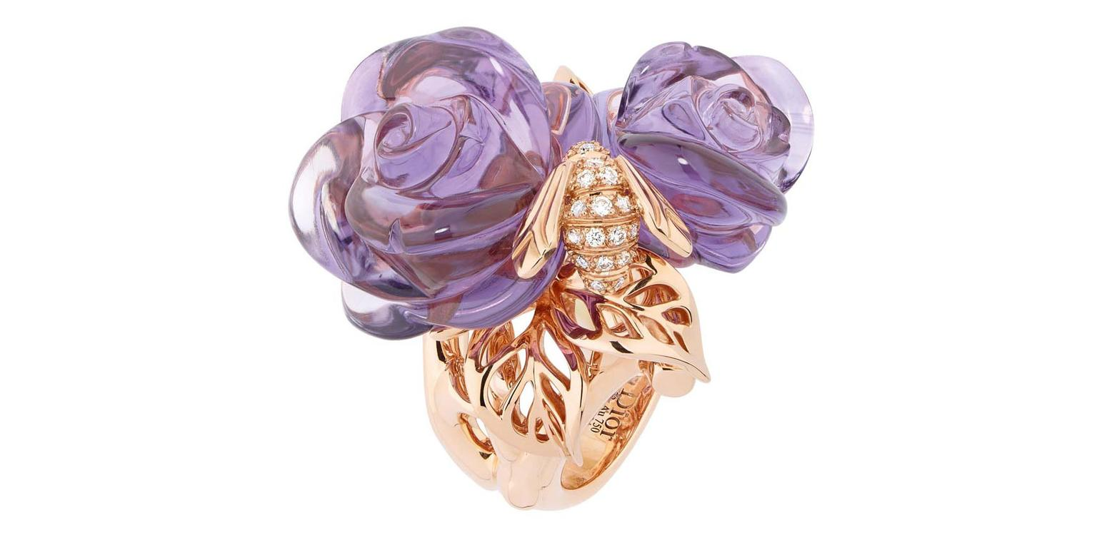 Dior Pre Catalan ring in pink gold with amethyst WS Theme