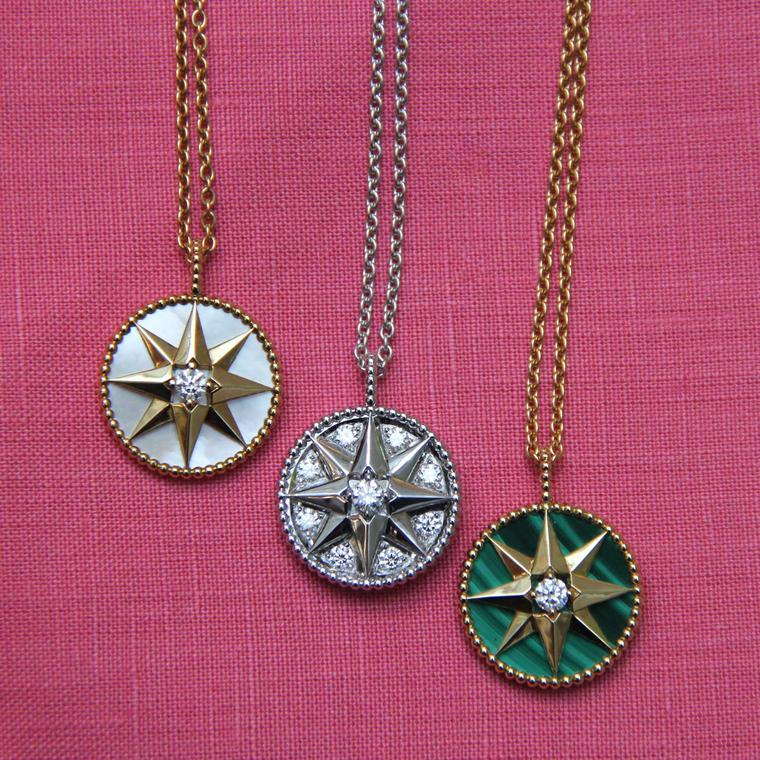 Dior Rose des Vents medallion necklaces