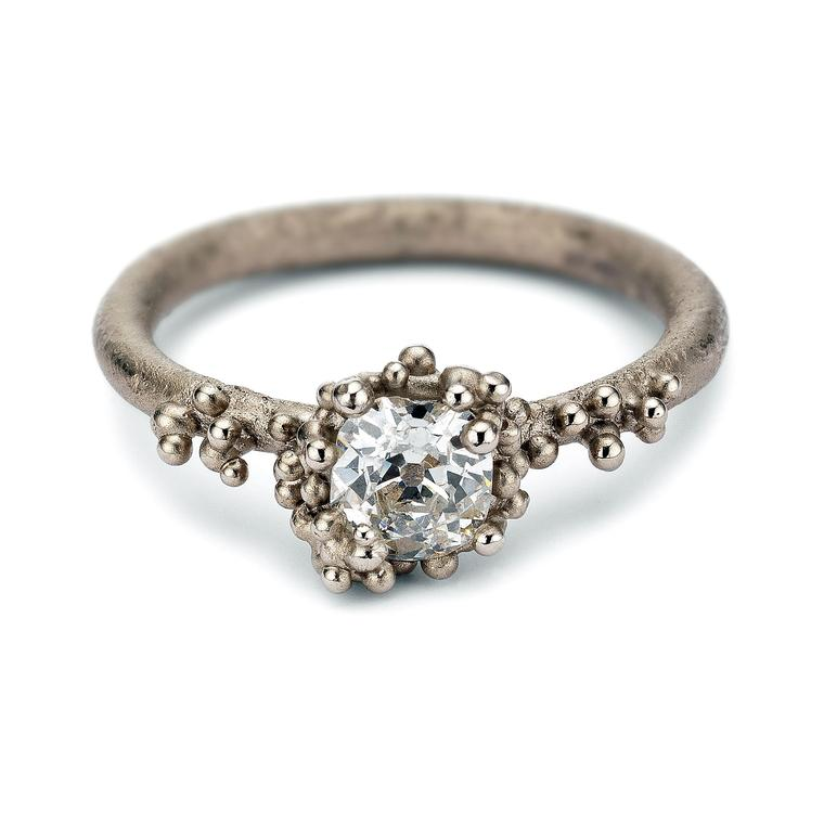 Ruth Tomlinson solitaire diamond granulated ring