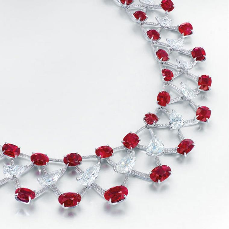 Edmond Chin necklace with rubies and diamonds
