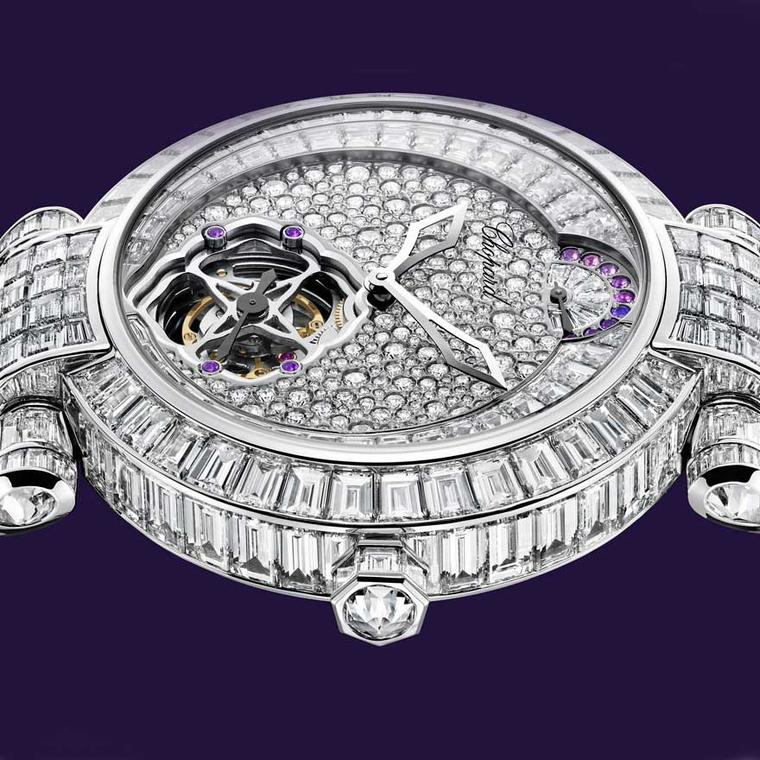 Chopard Imperiale Tourbillon white gold and diamond watch close-up