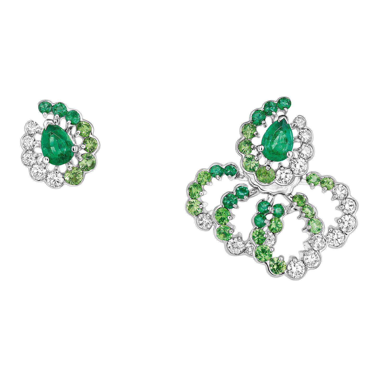 Archi Dior Milieu du Siècle mismatched earrings