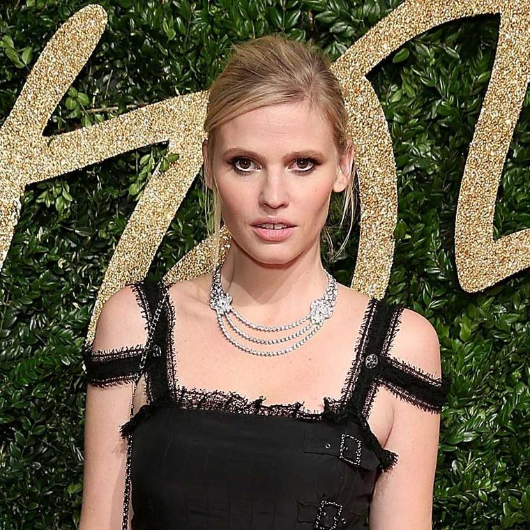 Lara Stone chose Chanel diamond jewellery for the British Fashion Awards