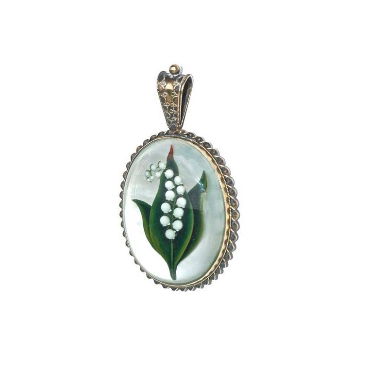 Rowan & Rowan Lily of the Valley pendant circa 1890