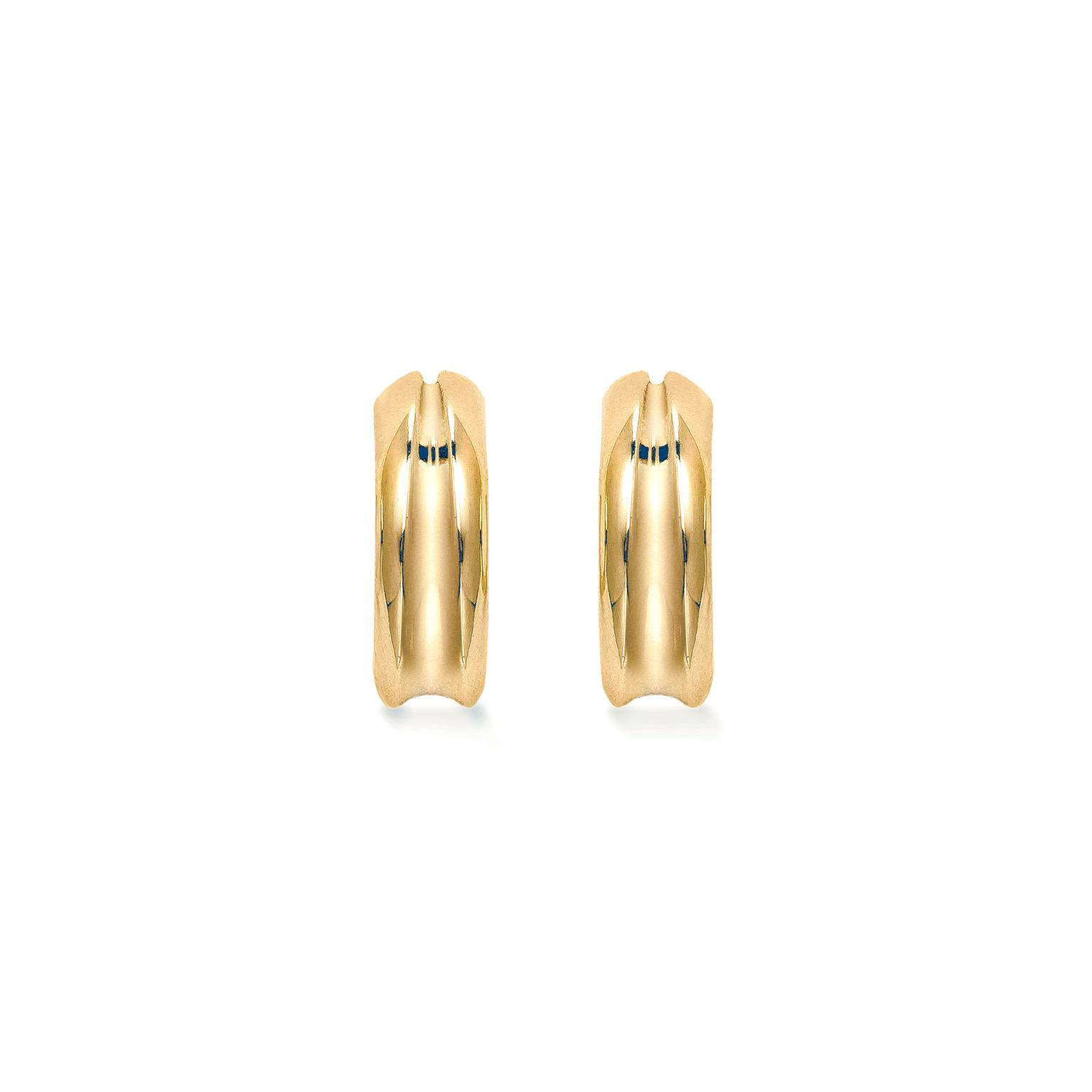 Mappin & Webb Wildfell yellow gold hoop earrings